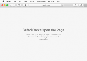 Safari Can't Establish a Secure Connection