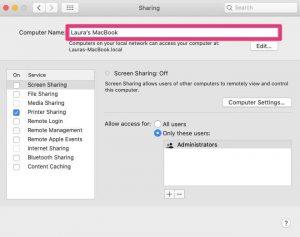 Remove Shared Computer on Mac