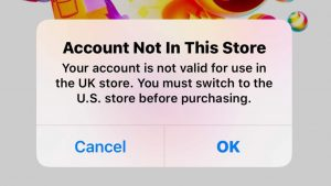 Account not in this store