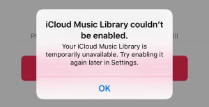 This Account Does Not Have iCloud Music Enabled